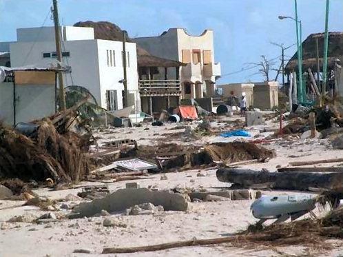 Hurricane Dean Landfall Location - Majahual & Costa Maya, Mexico ... Hurricane